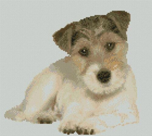 Terrier Puppy Dog Counted Cross Stitch Kit 8 x 8.75 20.7cm x 22.5cm Free P&P