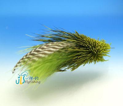 12 pcs d/'olive margoulin Minnow Truite Mouches Pêche à la mouche 10# avec free box D601