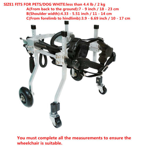BestParts 4-wheels Cart Pet//Dog Wheelchair for Handicapped  small Dog\Cat\puppy
