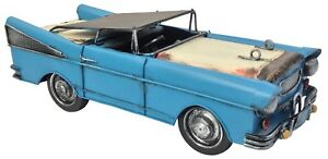 De-Coleccion-Clasico-Chevrolet-Bel-Air-1957-coche-tin-metal-37cm-longitud-Coleccionable