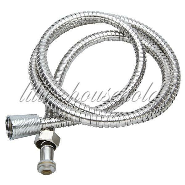 1.5M Flexible Stainless Steel Chrome Shower Head Bathroom Water Hose Pipe