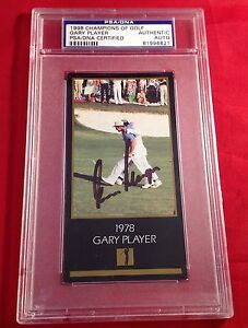 Gary Player signed 1998 Champions of Golf Card PSA/DNA Slabbed #81996621