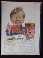 1919 Beech Nut Peanut Butter Advertisement with PB Loaf Recipe Cute Kid