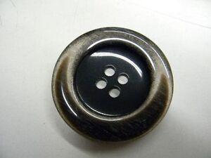1 Bouton Neuf Mercerie Plastique Couleur Marron 5 Cm Lot 855