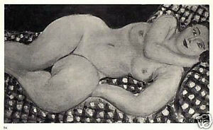 MATISSE-SIGNED-1935-LITHOGRAPH-with-COA-SEXY-amp-VERY-RARE-HENRI-MATISSE-ART