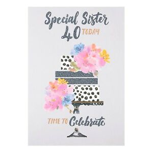 Image Is Loading Special Sister 40 TODAY TIME TO Celebrate Lovely