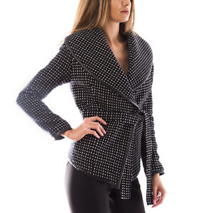 Wool Blend Spring Coat 12 Length Women Black Short Size OwatIZq