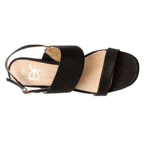 Footwear Heel 40 Block Metallic Sandali nuovi Shimmer Mellen Uk Black Daniel Eu 7 4qd46
