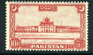 PAKISTAN-1949-53 10a Scarlet Sg 50 LIGHTLY MOUNTED MINT V13594
