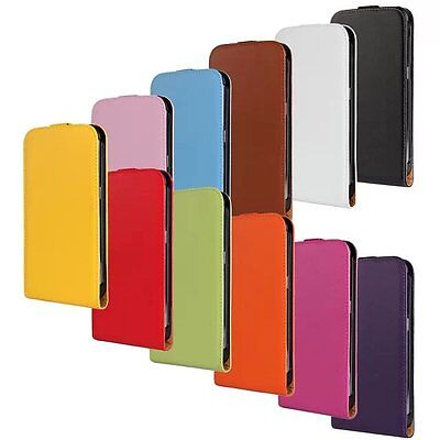 Genuine Leather Magnetic Flip Case Cover For Samsung Galaxy S Duos GT-S7562