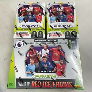 2020-21 Panini Prizm English Premier League Soccer Mega Box and 2 Blaster Lot