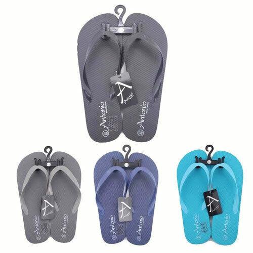 Mens Plain Coloured Flip Flops Beach Sandals Sizes 8-10 UK NEW 1 Pair FREE POST