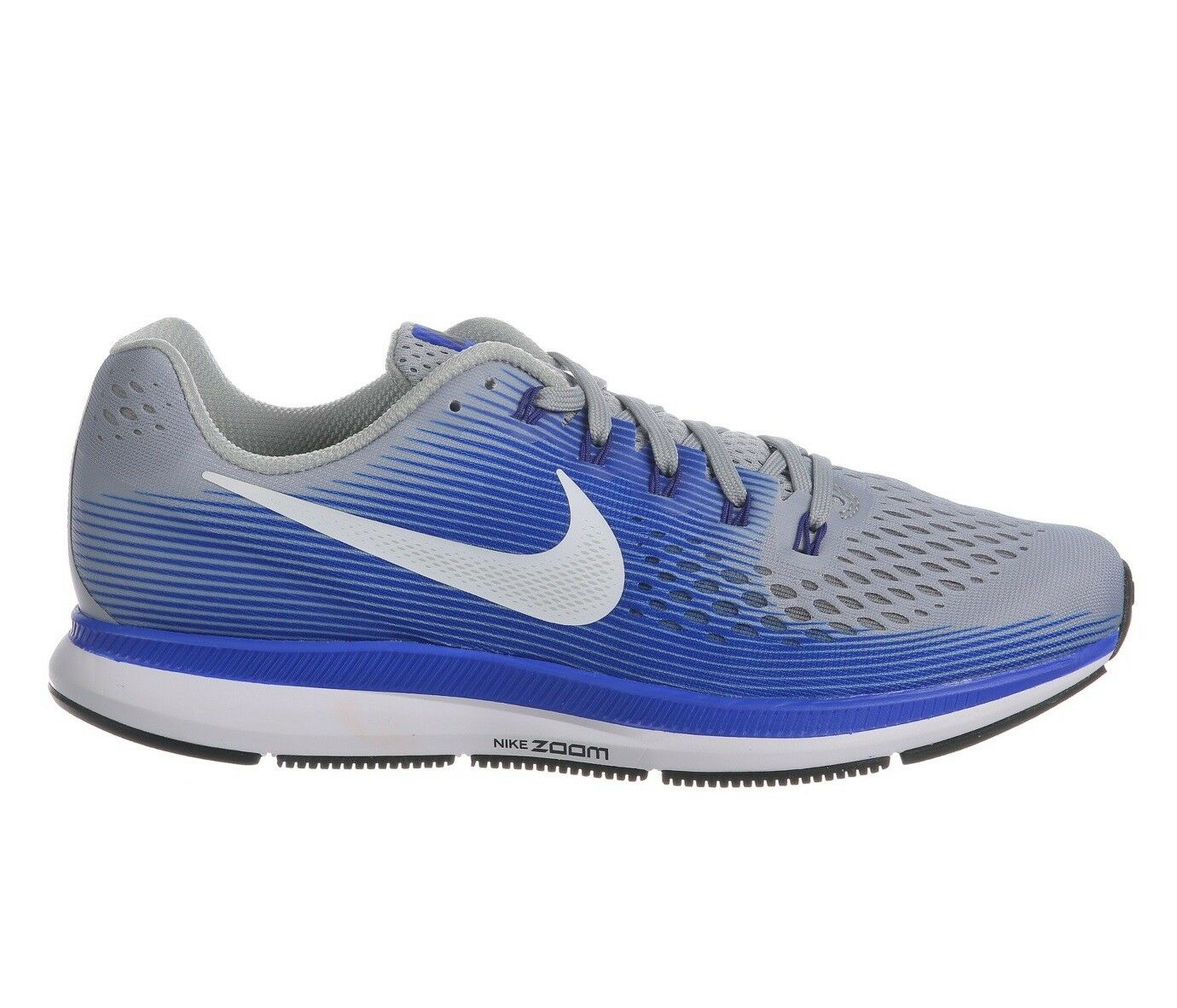 Nike Air Zoom Pegasus 34 Mens 880555-007 Grey Racer Blue Running Shoes Size 15