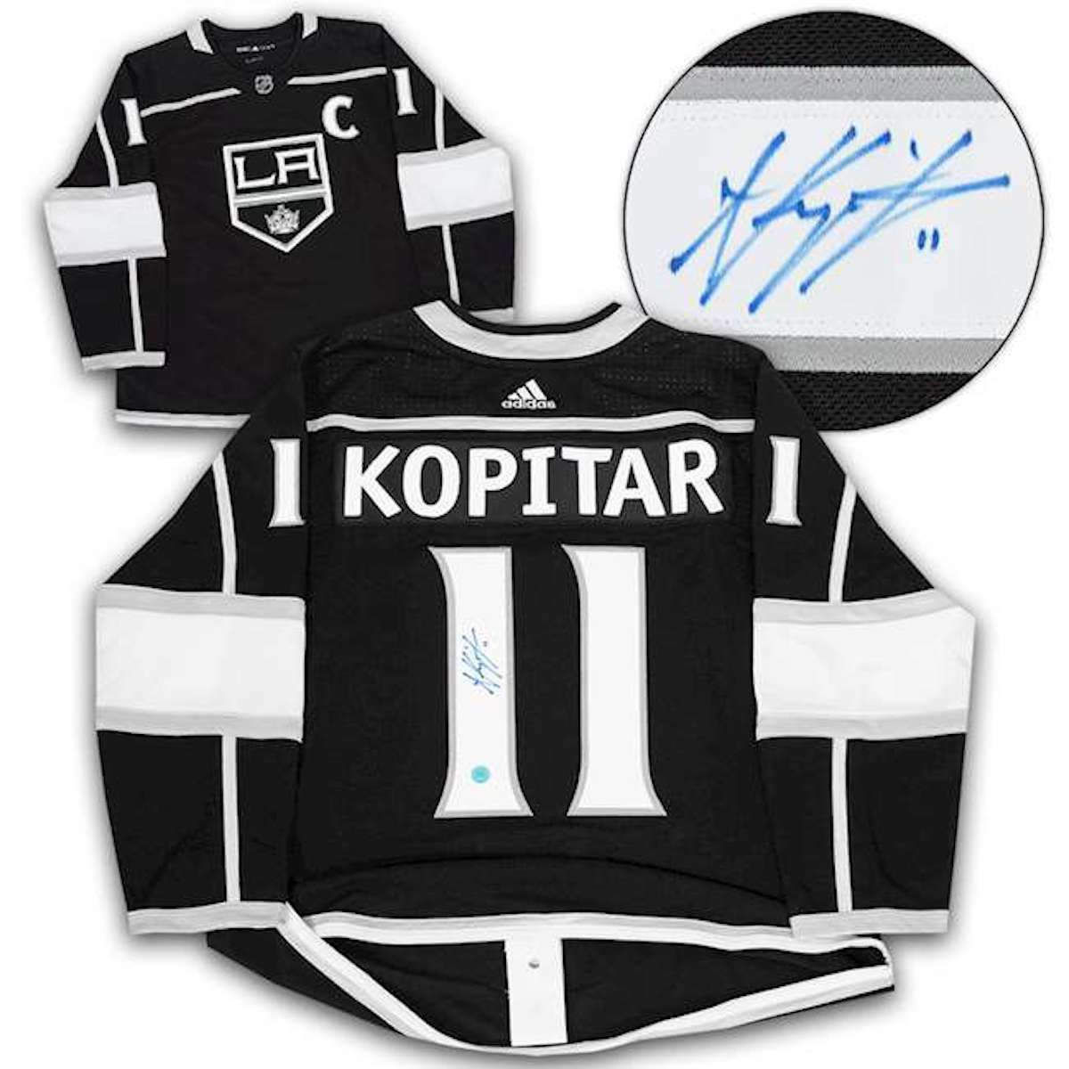 a3fd82909 Details about Anze Kopitar Los Angeles Kings Autographed Adidas® Authentic  Pro Hockey Jersey