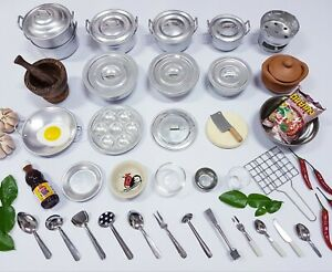 Cooking Kitchen Toy Real Cookware Food Kid Gift Small B Day Xmas Set A Education Ebay