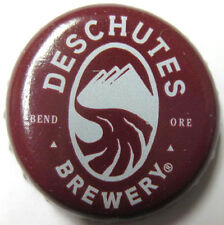 DESCHUTES BREWERY, BRAVELY DONE used Beer CROWN, Bottle CAP, Bend, OREGON