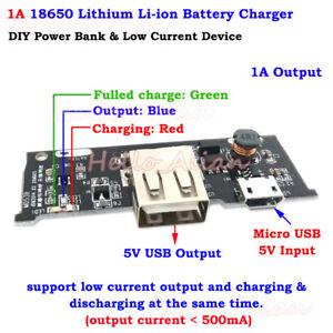 Détails sur 5 V 1 A MICRO USB 3.7 V LITHIUM Li ion 18650 Chargeur de Batterie Module À faire soi même Power Bank afficher le titre d'origine