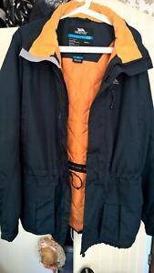 Mens Trespass Gunbarrel Microfleece Small S Grey Smoke Full Zip Hooded Jacket