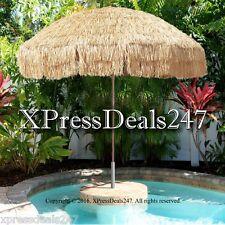 8 Foot Deluxe Tahiti Tropical Island Umbrella Perfect For Tiki Bar Beach Patio