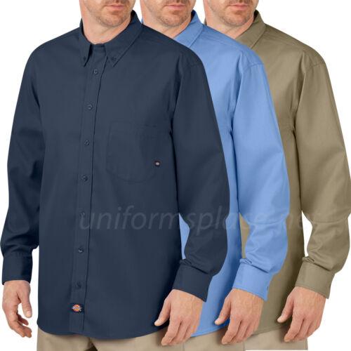 Dickies work Shirts Mens Industrial Flex Comfort Long Sleeve Shirt LL505