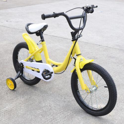 16 Zoll Mädchenfahrrad Jungenfahrrad Kinderfahrrad Fahrrad /& Hilfsrad 3 Farbe