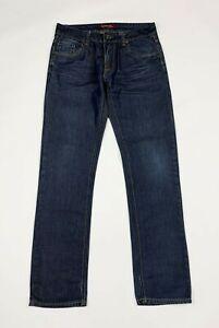 Adrexx-jeans-uomo-usato-slim-W32-tg-46-denim-blu-straight-fit-boyfriend-T6166