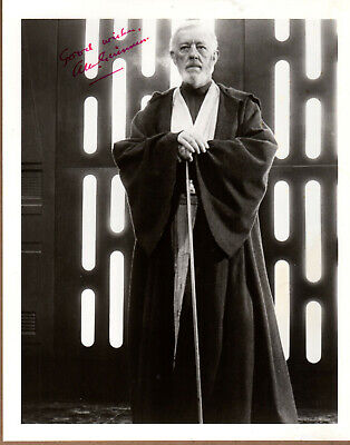 Sir Alec Guinness Obi Wan Kenobi STAR WARS AUTOGRAPH Autographed Signed vintage movie still w Certificate of Authenticity 3 free prints