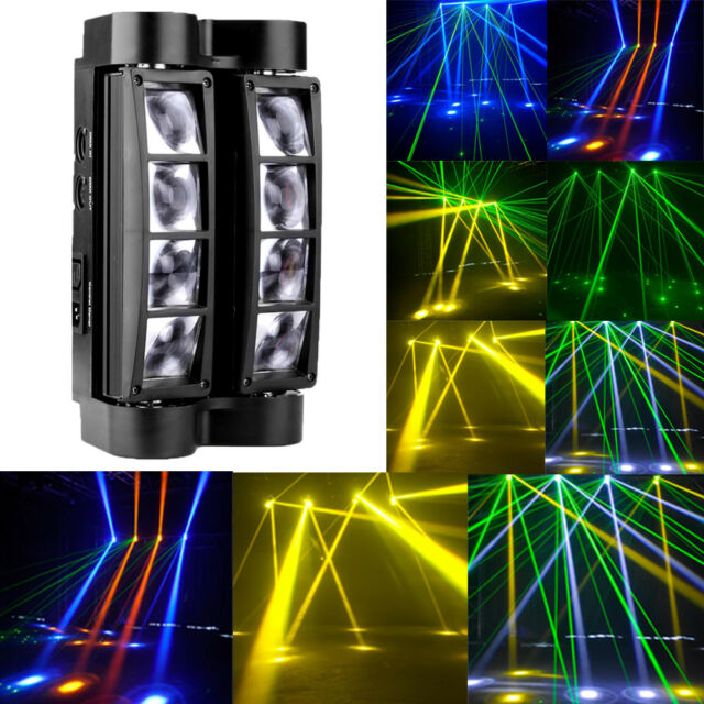 80w rgbw 8x led spider beam moving head stage light bar disco dj 80w rgbw 8x led spider beam moving head stage lighting bar disco dj party lights aloadofball Choice Image