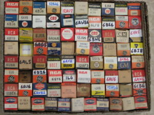 Box Lot of 81 Vintage TV - AUDIO - GUITAR - AMPLIFIER - HAM - RADIO Tubes
