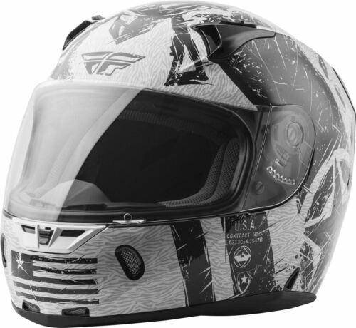Fly Racing Revolt FS Liberator Helmet Gloss White//Black