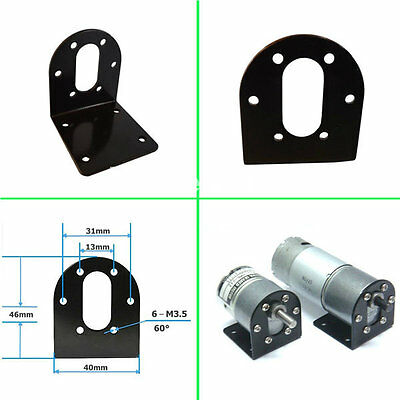 NEW Alloy Steel Mounting Bracket For 37mm Stepper Motor Black Holder Fastener OG
