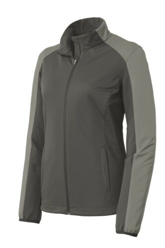 SOFT SHELL LADIES MESH LINED COLORBLOCK JACKET WIND//WATER RESISTANT XS-4XL