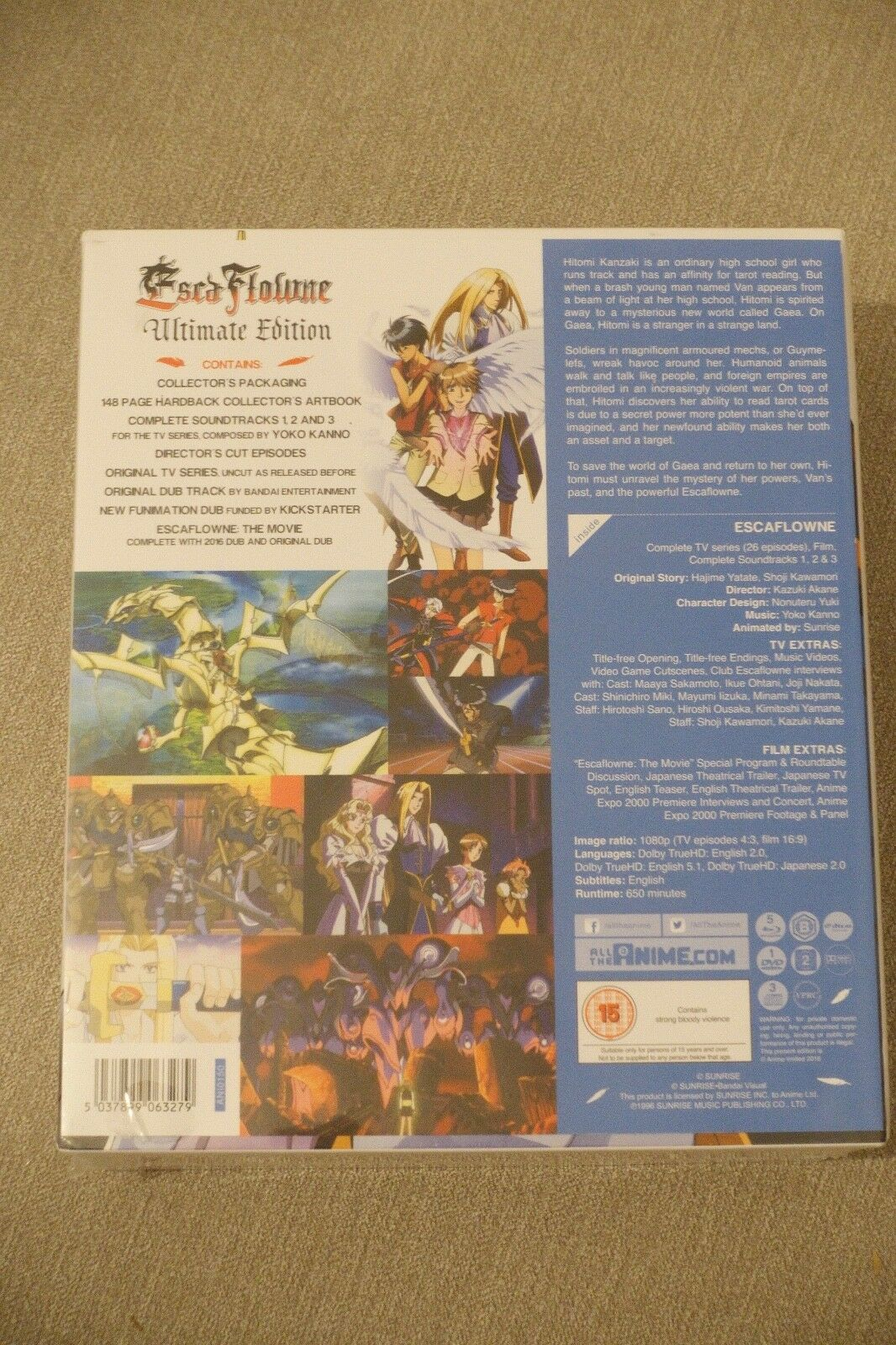Escaflowne Ultimate Edition Blu-ray New & Sealed ANIME