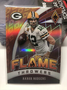 2020-Panini-Phoenix-Aaron-Rodgers-Flame-Throwers-Green-Bay-Packers-Red-108-299