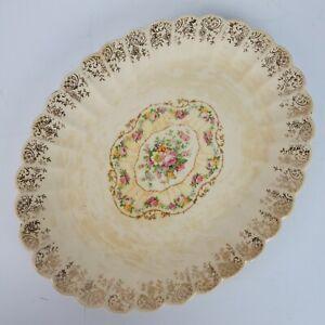 Serving Platter Vintage Trojan Sebring TOLEDO DELIGHT Sand 11 Inch 22k Gold