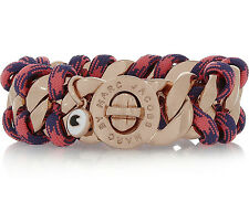 New Marc Jacobs Rose Gold Corded Candy Katie Turnlock bracelet M5113584