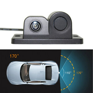 HD Waterproof Car Rear View Camera with Radar Parking Sensor 170° Viewing Angle