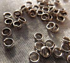 Steel Split Rings Findings 4 Mm 100 Pieces