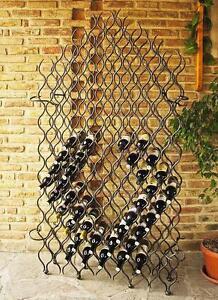 étagère à Vin En Métal Fer Forgé 190 Cm Grand Feu 127 Porte