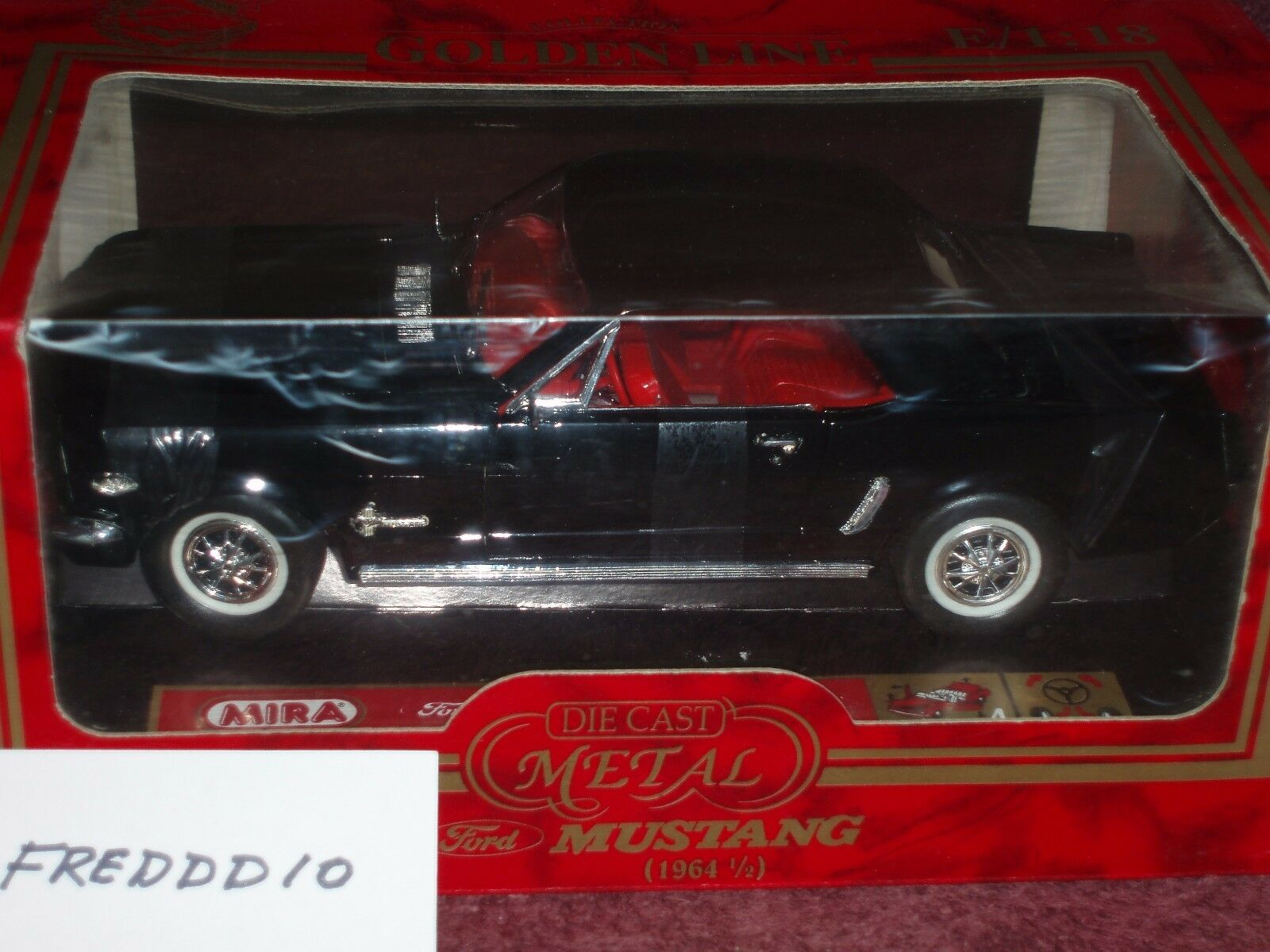 Mira Solido Ford Mustang 1964 1 2 Noir Coupe 1 18