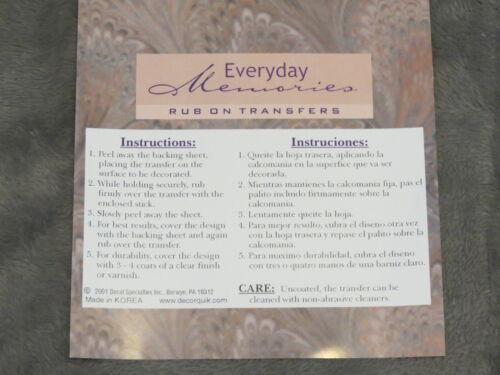 5 PACKS EVERYDAY MEMORIES RUB ON TRANSFER ROSE EMBELLISHMENT