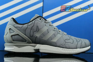 ADIDAS ZX FLUX CHARCOAL GREY WHITE AQ4903 NEW SIZE: 8