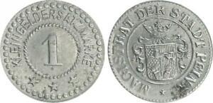 Peine 1 Pfennig Kleingeldersatzmarke/Emergency Money XF 31914
