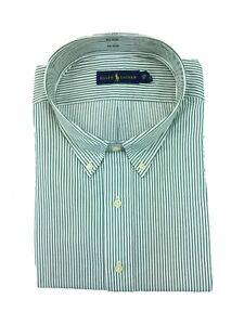 Ralph-Lauren-Men-039-s-Big-amp-Tall-Button-Front-Dress-Shirt-Green-Stripe-Oxford-3XLT