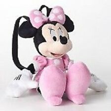 """Disney Mickey Minnie PLUSH with Pink Roll BACKPACK 18"""" For Kids BRAND NEW"""