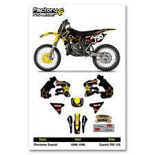 Team Rockstar Suzuki Motocross Graphics RM 125 1996-1998 Dirt bike Graphics kit