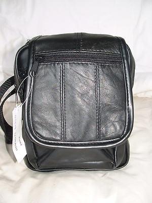 Fabretti Soft Nappa Leather & PU Man Bag / Shoulder Bag / Across Body HolsterBag