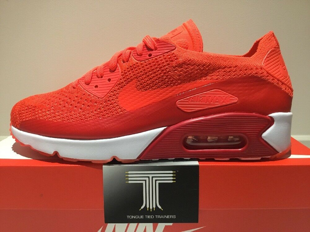 Nike Air Max 90 Ultra 2.0 Flyknit  875943 600 600 600  Uk Größe 10 adb2c5