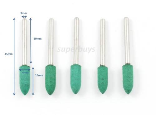 5 1 100pc 3mm Rubber Gem Stone Diamond Rotary Die Grinder Drill Bit Buffer Kit