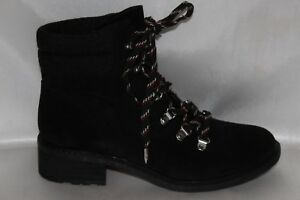 2347dd904209b NEW! SAM EDELMAN Black Suede Leather Hiker Trail Lace Up Ankle Boots ...